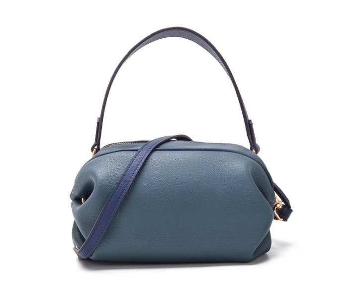 2019 nouveau style split cuir femmes petit sac à main avec longue sangle bandoulière sacs - 5