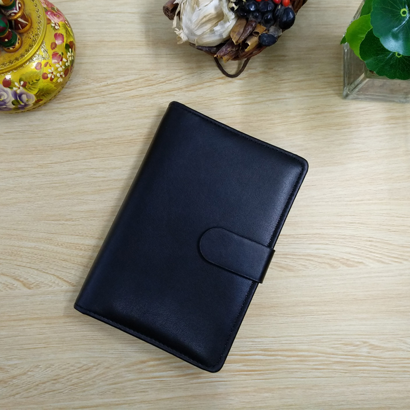 Padfolio Conference Fefillable A6 Folder Clear Pen Bag Color Stickers Fashion Design 6 Rings Binder Notebook 2020 Calendar
