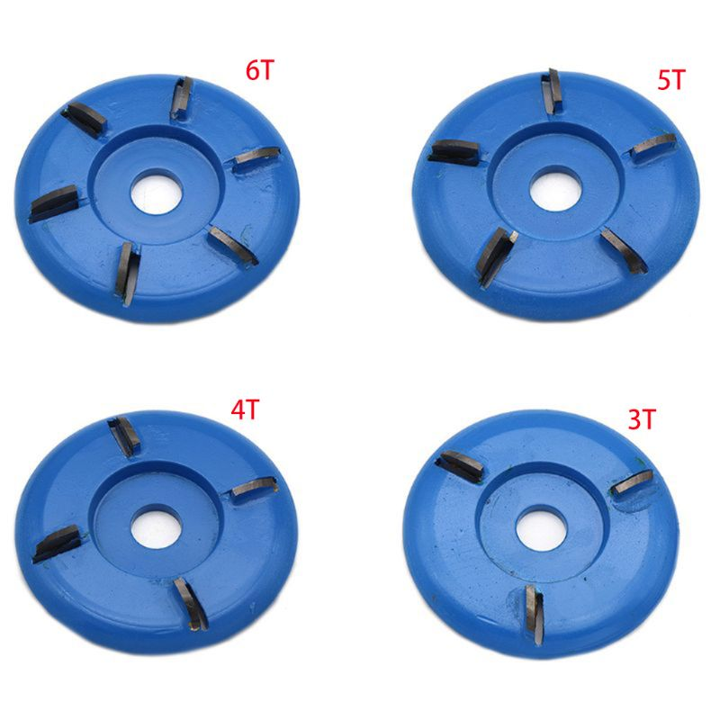90mm Diameter 22mm Bore Rotary Planer Curved Blade Power Wood Carving Disc Arc Milling Mill Carpentry Flat Turbo Disc