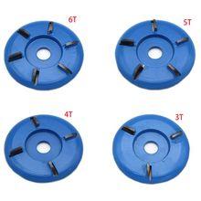 Disco de disco de tallado de madera de 90mm de diámetro 22mm con taladro giratorio y hoja curva