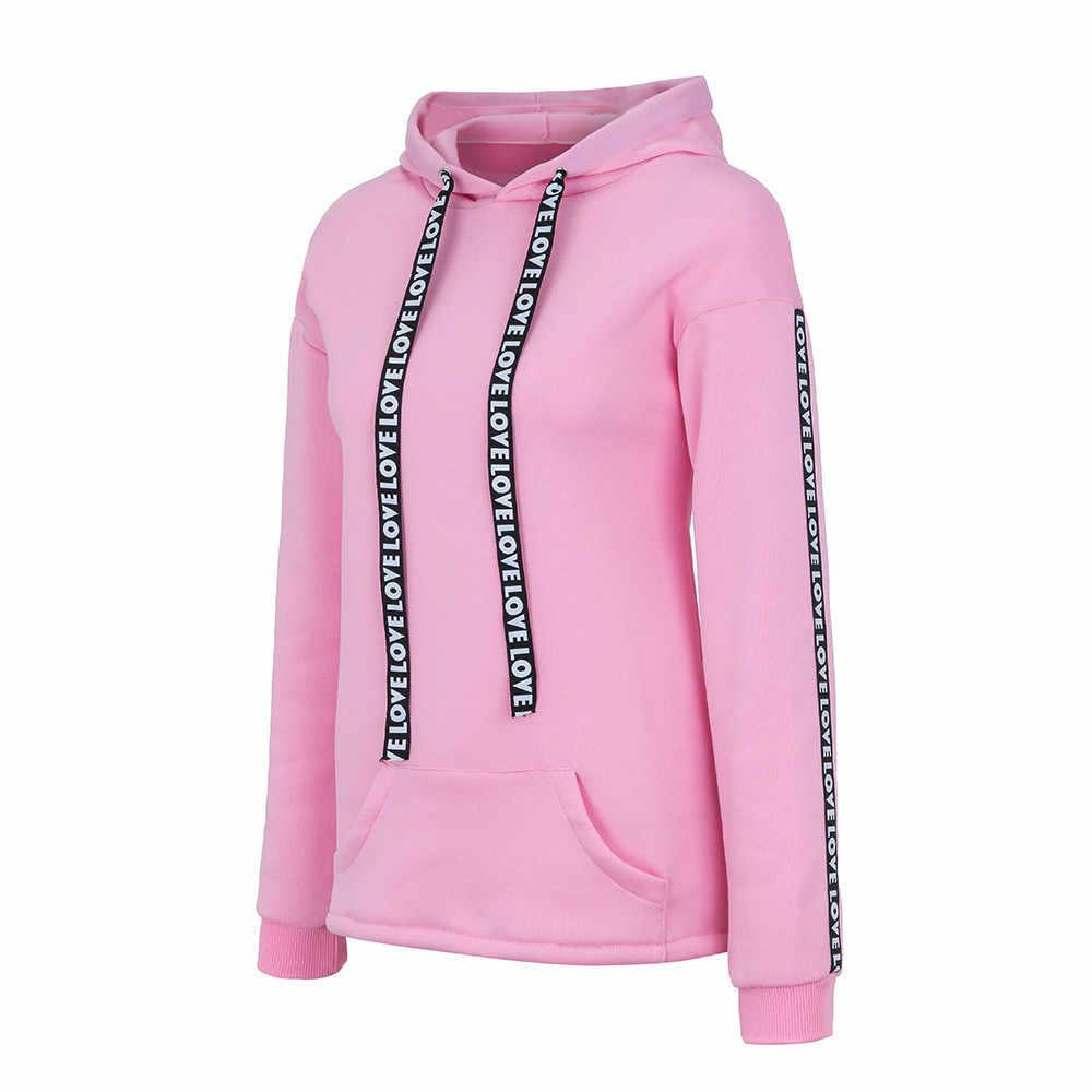 נשים סווטשירט בתוספת גודל ארוך שרוול מוצק נים סלעית סוודרים מקרית למעלה חגורה חולצה Poleron Sudadera קון Capucha L806