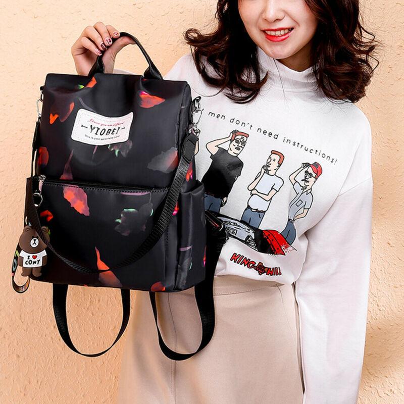 Women Anti-theft Oxford School Backpack Travel Waterproof Satchel Shoulder Bag  /BY