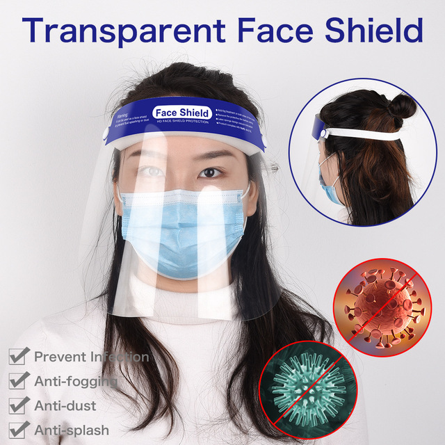 PET Face Shield Men Woman Hat Face Mask Anti-splash Anti-dust Anti-virus Protective Hat Mask Prevent Fluid Splashing 2pcs/bag 5