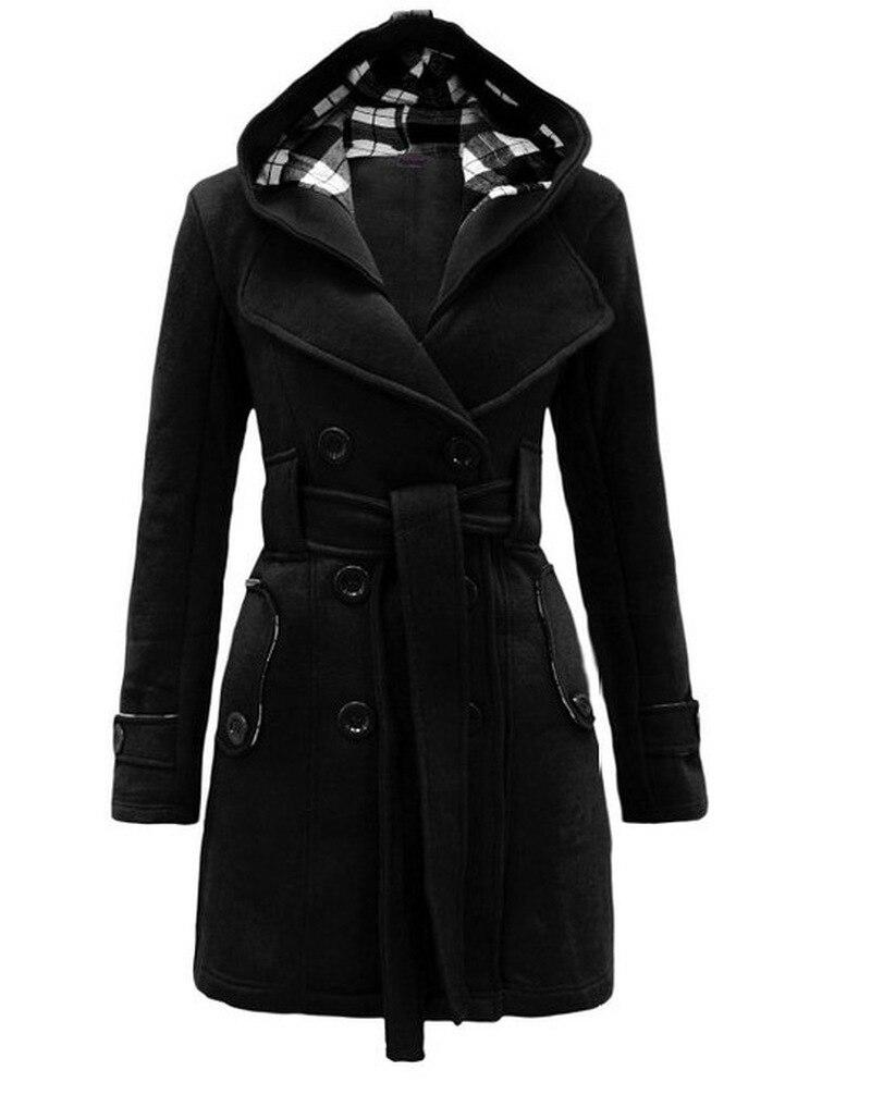 Long Coat Women Dovetail  Stylish Lapel Office Wear Plus Size Autumn Ladies Simple Elegant Casual Overcoats 1