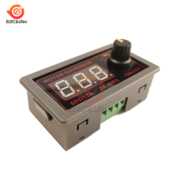 DC 9-60V 12A 500W PWM DC Motor Speed Controller Fan Speed Control Switch Digital Adjustable frequency duty cycle 12v 24v 48v image