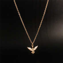 Fashion Trend Gold Eagle Pendant Necklace Women Jewelry Chain Statement Necklace Personalized Choker Necklaces Women Accessories(China)