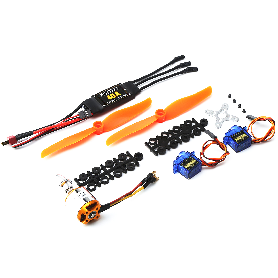 2217 KV2300 motor+<font><b>6035</b></font> <font><b>propeller</b></font>+9g servo+40A ESC kit for XXD RC Airplane Racing Drone image
