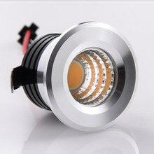 Мини затемнения светодиодный вниз светильник под шкаф Точечный светильник 5 Вт для ювелирных изделий Дисплей потолочные встраиваемые светодиодные лампы 110 V-240 V теплый белый холодный