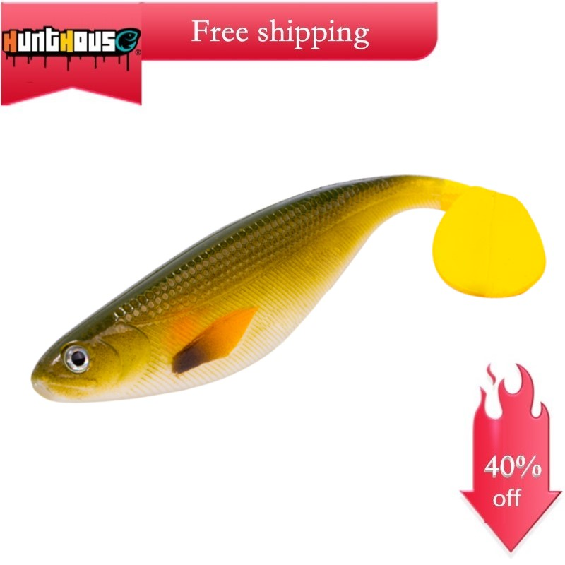Hunthouse Pro Shad Lure Shad Teez Pike Leurre 17cm 35g Fishing Paddle Tail Realistic Shad Big Soft Plastic Lures Rubber