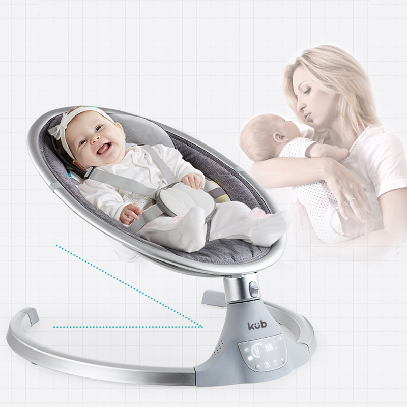 KUB Baby electric rocking chair baby cradle chair baby artifact sleepy newborn comfort chair shake with KUB Baby electric rocking chair baby cradle chair baby artifact sleepy newborn comfort chair shake with music