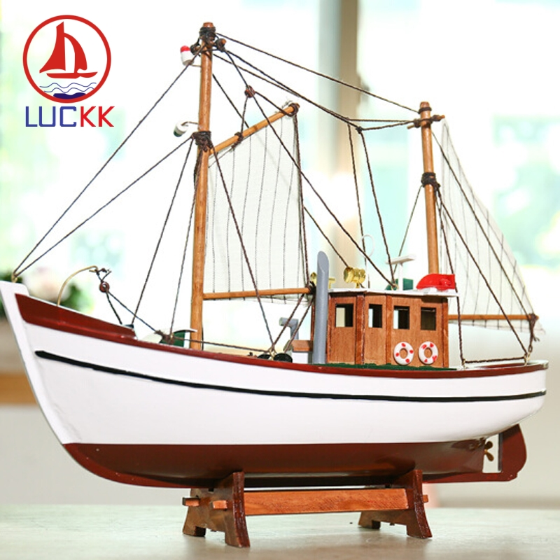 GEEFSU-Ship Model Christmas Ornament Wooden Sailboat Model ...