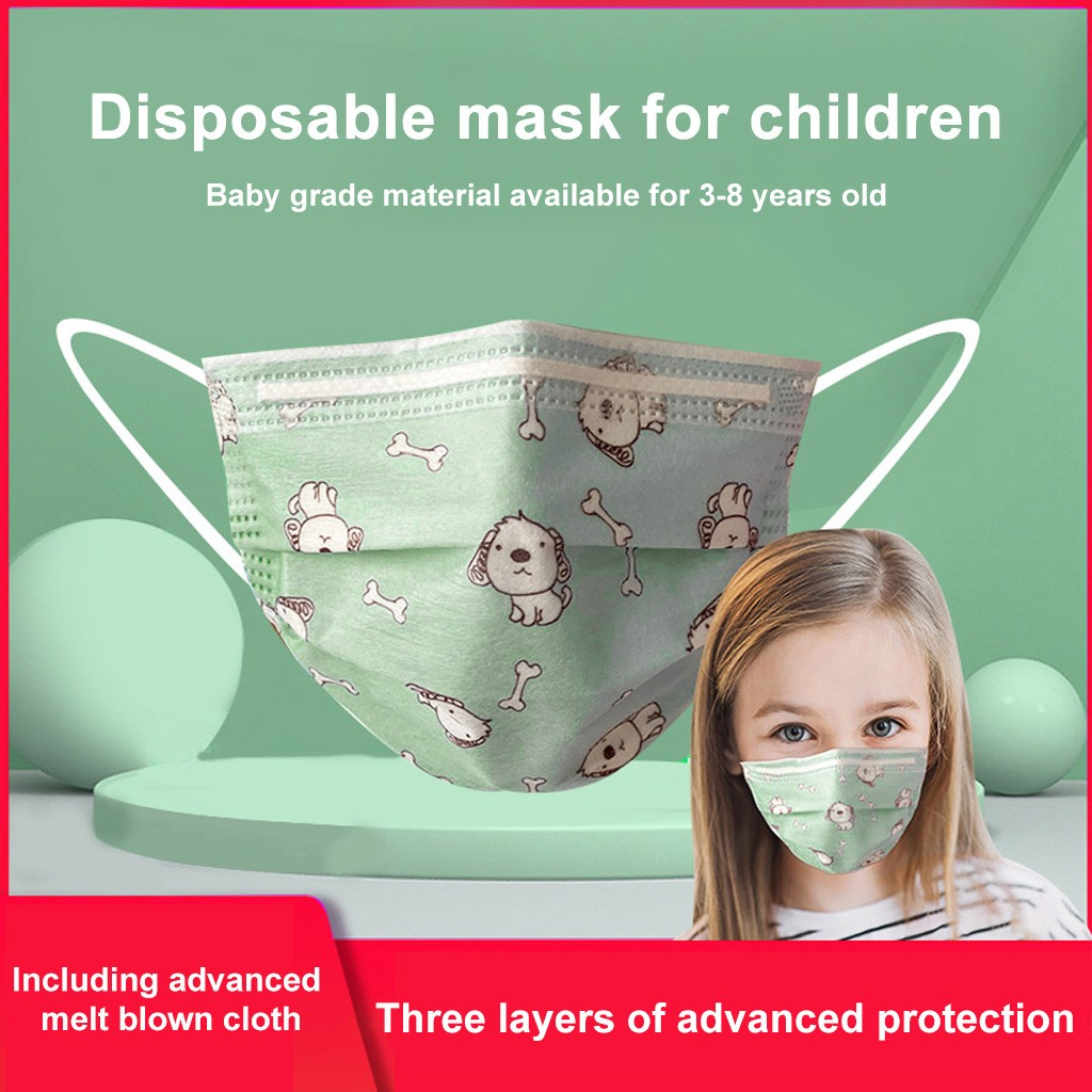 In Stock 10pc Disposable Face Industrial 3ply Ear Loop Masque Topmask Proof Protective For Children In Stock Respirator#E20