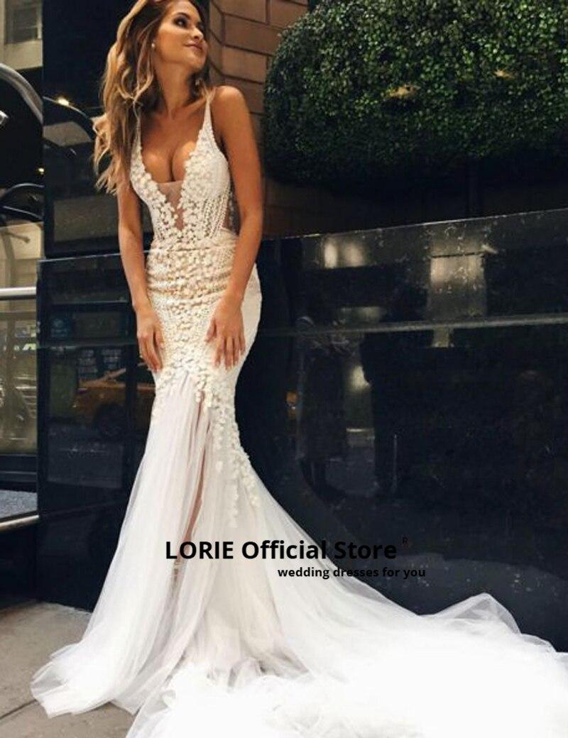 Lorie vestidos de casamento de sereia de