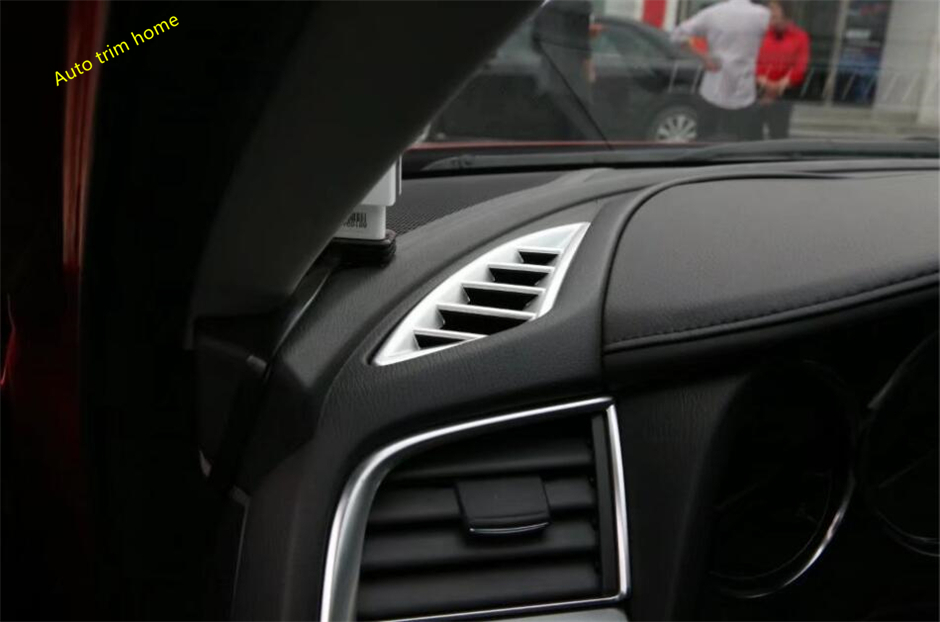 Lapetus Matte Interior Refit Kit Fit For <font><b>Mazda</b></font> <font><b>6</b></font> 2016 2017 Side Air Conditioning AC Outlet Vent Net Frame Cover Trim image
