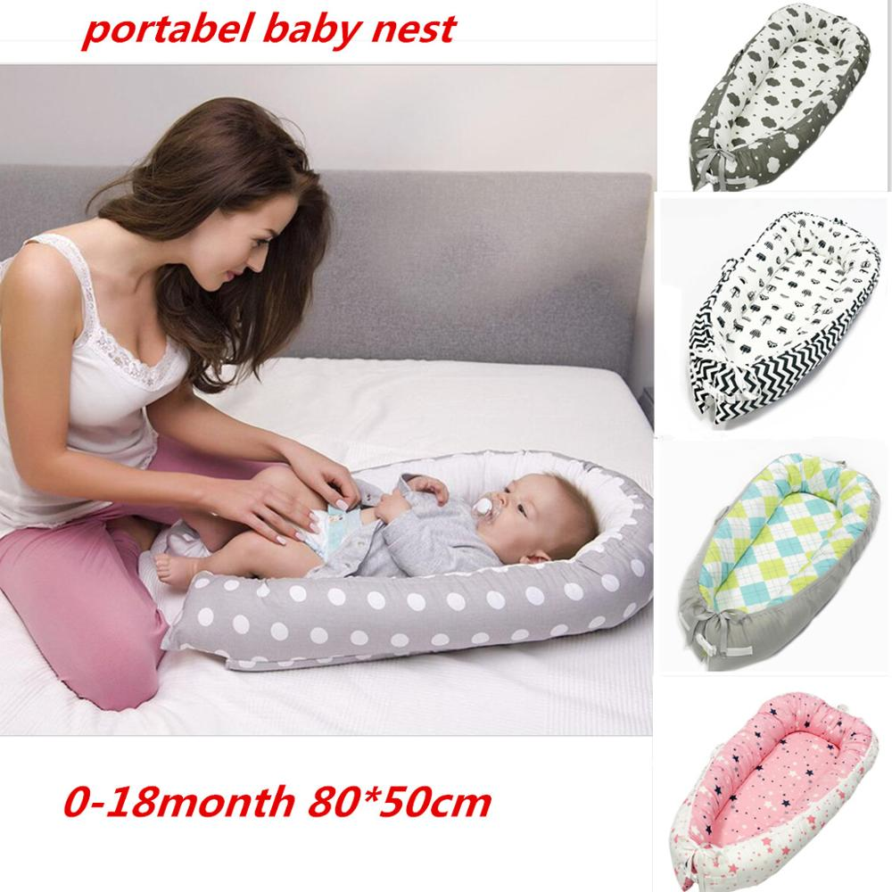 Portabel Baby Nest Bed Newborn Milk Sickness Bionic Bed Crib Cot BB Sleeping Artifact Bed Travel Bed With Bumper Baby SLEEP POD