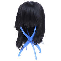 New Arriva 1pcs Blue Wig Durable Portable Folding Mannequin Head Cap Hair Holder Stable Display Tool