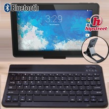 Ultra Slim Wireless Bluetooth Keyboard for HIPSTREET Phantom2 10.1″/Pilot 10″ Tablets Compatible for IOS Android Windows+Bracket