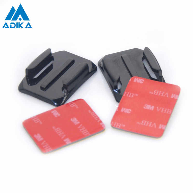 ADIKA 4pcs Curve Surface Attachment Flat Adapters Arc Mount with 3M Adhesive Stickers Holder Pasters for GoPro Hero 4 3+ 3 2 1