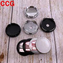 4 pçs 56mm 60mm mais novo logotipo do carro emblema roda centro hub tampão aro automático reequipamento à prova de poeira emblema cobre acessórios de etiqueta xyt