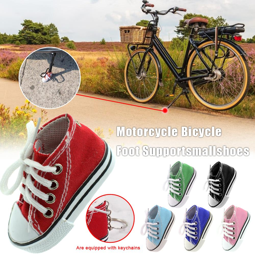 אופניים רגל תמיכה קטן נעלי אופנוע סוגר צד חצובה עומד הרחבת לוח מיני נעלי מפתח שרשרת אופני אביזרים