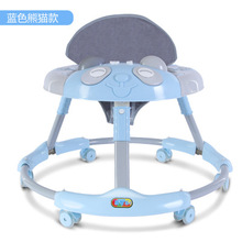 Baby Walker with Wheels Step Car with Toys Music Rocking Horse Foldable Pedal Brake Baby Learning Walking Assistant 6-18M цена и фото