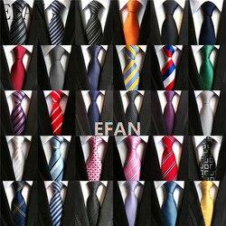 Fashion Neckties Classic Men's Stripe Yellow Navy Blue Wedding Ties Jacquard Woven 100% Silk Men Solid Tie Polka Dots Neck Ties