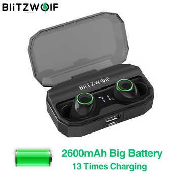 BlitzWolf FYE3S FYE3 TWS Bluetooth inalámbrico verdadero 5,0 Inear auricular 2600mAh batería de carga Digital Power Display auriculares deportivos