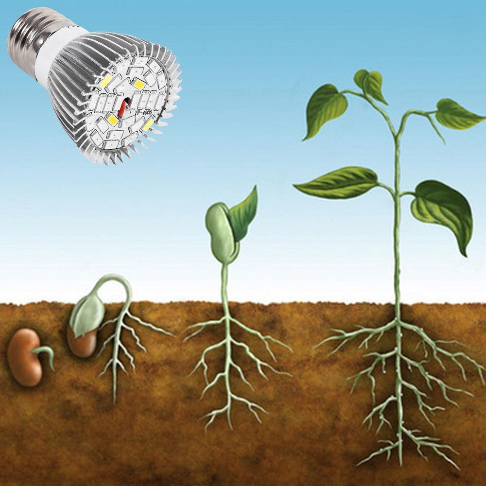 28w E27 Plant Growth Light Led Bulb 85-265v Full Spectrum Phytolamp Indoor Plant Nursery Light Flower Growth Light