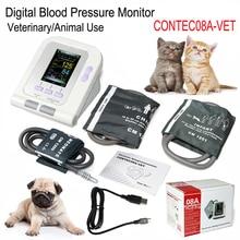 CONTEC08AVet Veterinary DigitalBlood Pressure Monitor Neonate + Infant+ Child Cuff Animal Use USB Software 3 cuffs For animal