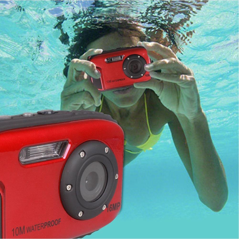 16MP HD sport sous-marin USB extérieur poche étanche caméra détection professionnel LCD affichage Anti-secousse vidéo numérique
