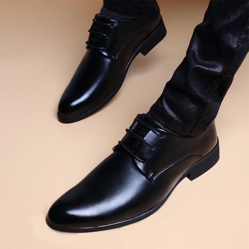New Fashion Business Dress Men Shoes Classic Leather Men'S Suits Shoes Fashion Lace-up Dress Shoes Men Oxfords Rtg5