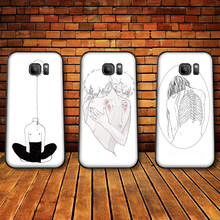 art lines Soft Silicone Phone Case For Samsung A3 4 5 6 Plus 7 8 910 20 30 40 50 60 70 2018 M40 J6 Coque(China)