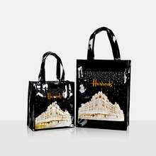 London Style PVC Reusable Shopping Bag Women's Bag Eco Friendly Small Signature Shopper Bag Waterproof Handbag Shoulder Bag