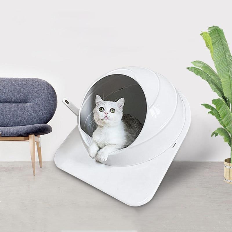 New Large Space Enclosed Pet Cat Litter Box Deodorization Splash Proof Cat Bedpan Spherical Pets Cat Cleaning Supplies