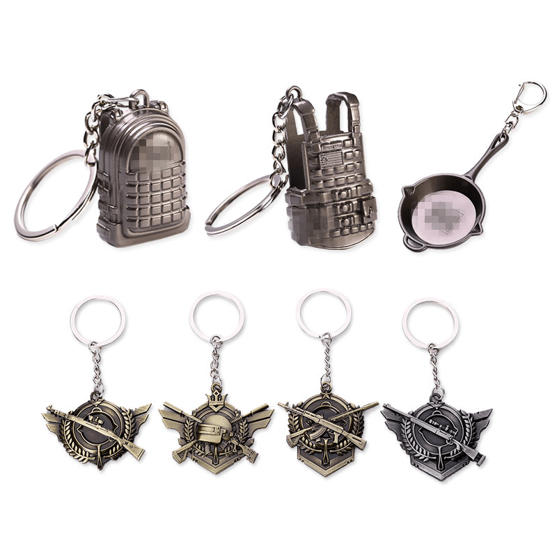 Jedi survival keychain 98K weapon model pendant metal key chain eating chicken game peripheral weapon model Gifts for men in Key Chains from Jewelry Accessories