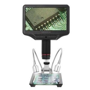 Image 4 - مجهر رقمي ثلاثي الأبعاد AD407 مقاس 7 بوصات بأبعاد 270X 1080P واجهة متعددة الوسائط ميكروسكوبات لمسافات طويلة للإصلاح ولحام