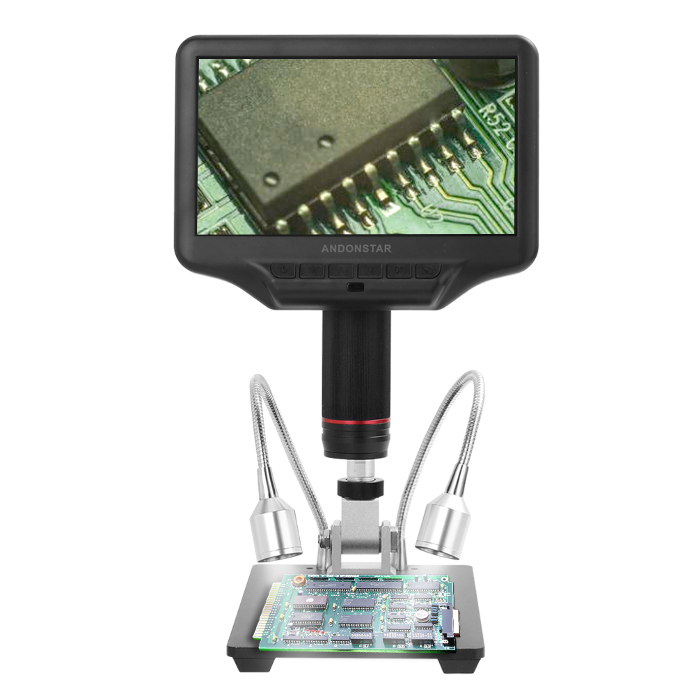 Image 4 - AD407 7 Inch 3D Digital Microscope 270X 1080P Multimedia Interface Long Object Distance Microscopes for Repairing SolderingMicroscopes   -