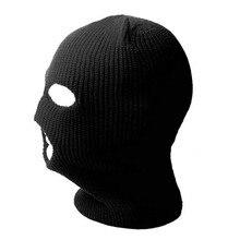 Вязаная Балаклава активный отдых Полное Лицо Крышка Лыжная маска шеи теплая шапка