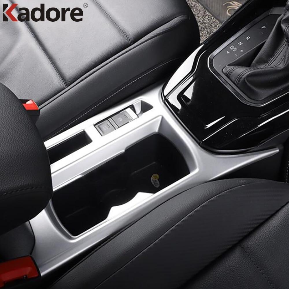Kadore Black ABS Carbon Fiber Color Car Front Water Drink Cup Holder Cover Trim Bezel for Mazda CX-5 CX5 2017 2018 2019