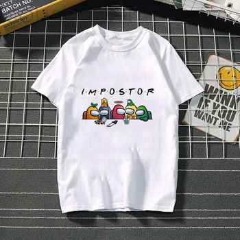 Summer Cool Women T-shirt Among Us Harajuku Streetwear Female Tshirt Unisex T Shirt Anime Funny Cartoon Hip Hop Tops Tees Male