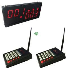 Klienta System kolejkowania dla restauracji 3-cyfrowy odbiornik wyświetlacz klawiatura nadajnika CE