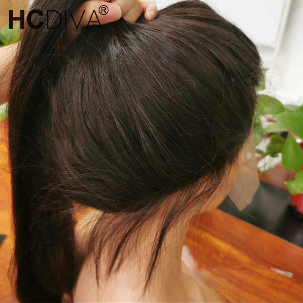 Orta kısmı dantel ön peruk 28 inç düz dantel ön peruk 13x4 Remy brezilyalı düz insan saçı peruk ön koparıp bebek saç