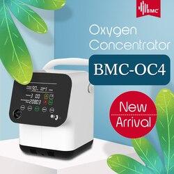 BMC مكثف الأوكسجين المحمول مصغرة الأكسجين آلة 1-6L/دقيقة قابل للتعديل للنوم الهواء تنقية المنزلية مراقب الصحة
