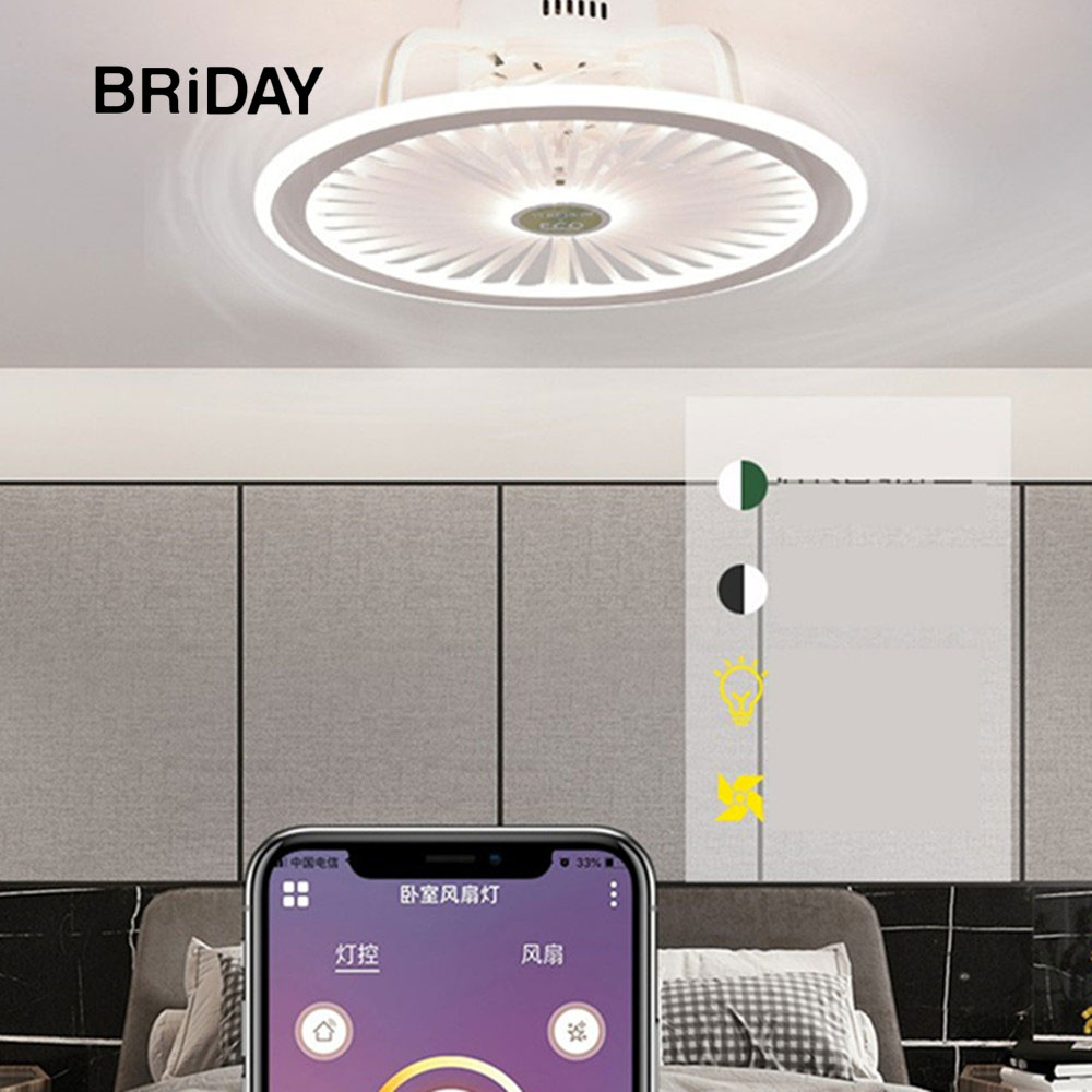 Ventilator Lamp Smart Ceiling Fan Lamp With Lights Remote Control Lights Ceiling 50cm With APP Control Bedroom Decor New