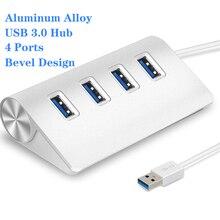USB Hub Aluminum USB Hub High Speed 5Gbps Adaptador USB 3.0 4 Port Multi Hub Splitter Adapter Expander For Macbook Pro PC Laptop