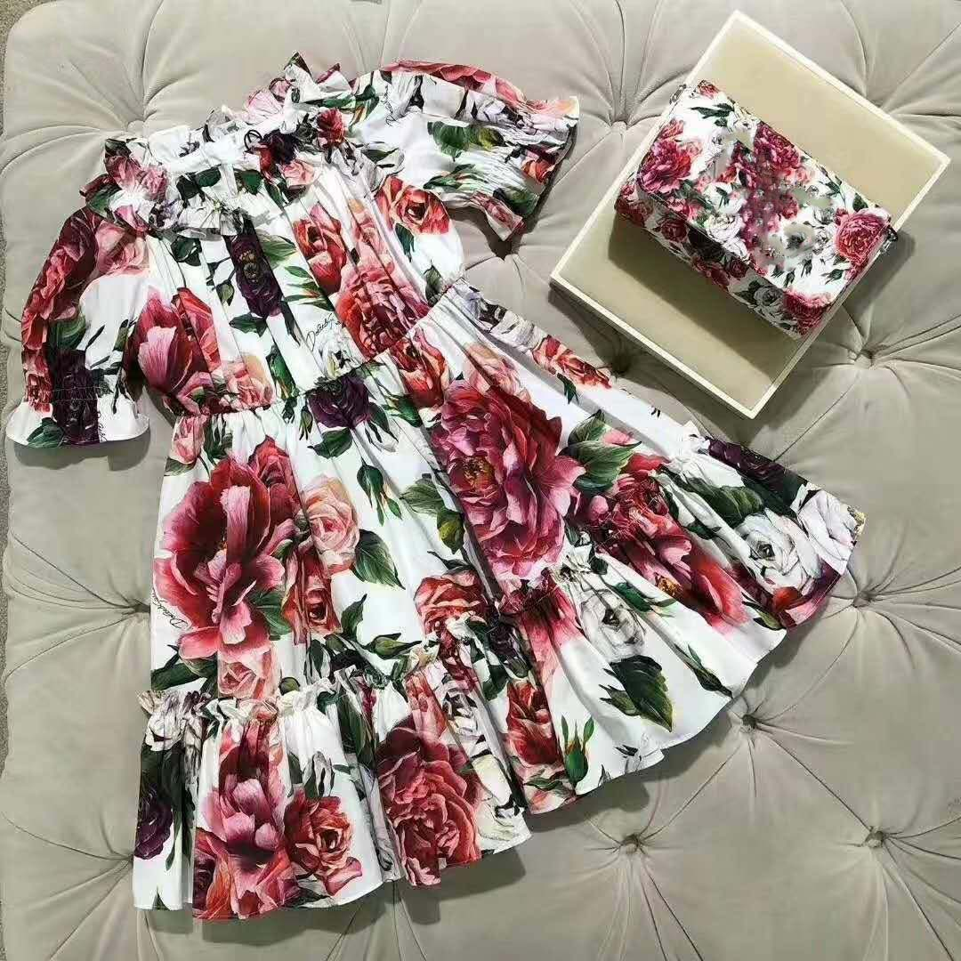 ZMHYAOKE 2020 NEW Summer Baby Girls Casual Dresses Fashion Beach Christmas PARTY Dress Girl Thanksgiving Girl Princess Dress