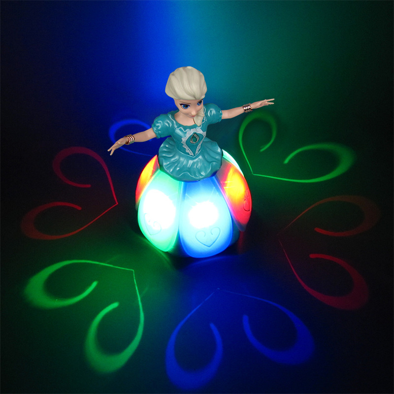 Image 2 - Electric Dancing Princess Doll Toys Elsa Anna Doll with Wings Action Figure Rotating Projection Light Music Model Dolls For GirlElectronic Pets   -
