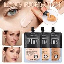 100 Ml Liquid Foundation Poreless Face Primer Non-greasy Full Coverage Oil Control Conceal Foundation Even Tone Brighten Skin