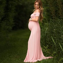 Maternity-Dresses Shoots Photo Women for with Floor-Dragging Sexy New
