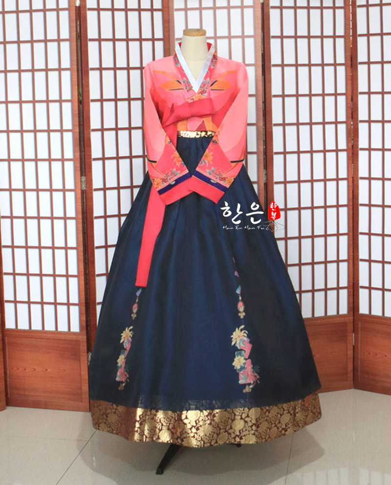Korea Imported Fabric / New Improved Hanbok / Stage Hanbok / To Dry Clean